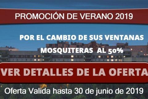 PROMOCIÓN DE MOSQUITERAS AL 50%